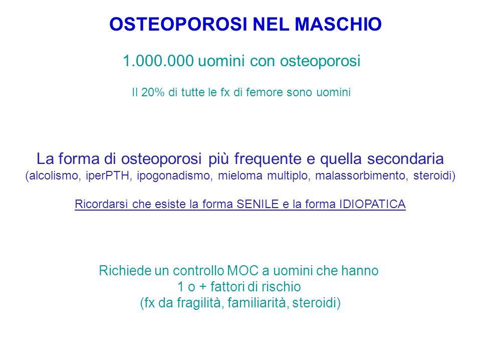 OSTEOPOROSI NEL MASCHIO