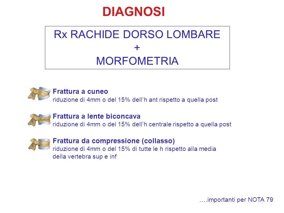 Rx RACHIDE DORSO LOMBARE