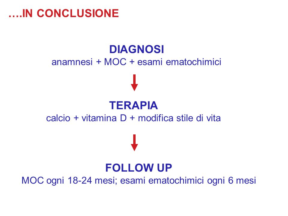 DIAGNOSI TERAPIA FOLLOW UP