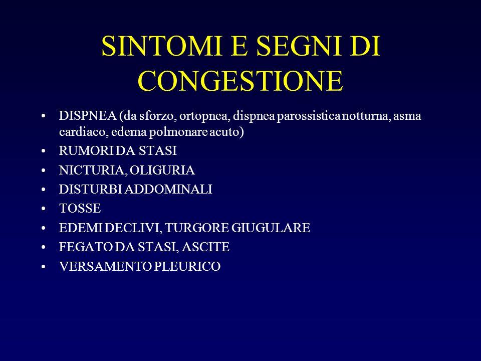 SINTOMI E SEGNI DI CONGESTIONE