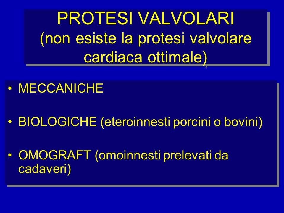PROTESI VALVOLARI (non esiste la protesi valvolare cardiaca ottimale)