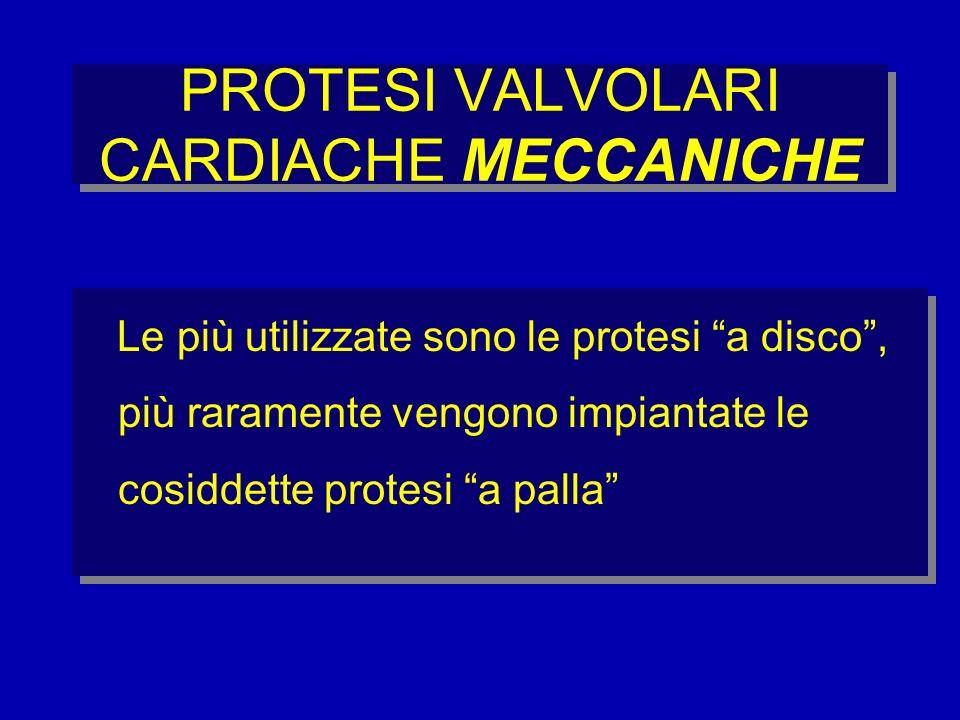 PROTESI VALVOLARI CARDIACHE MECCANICHE