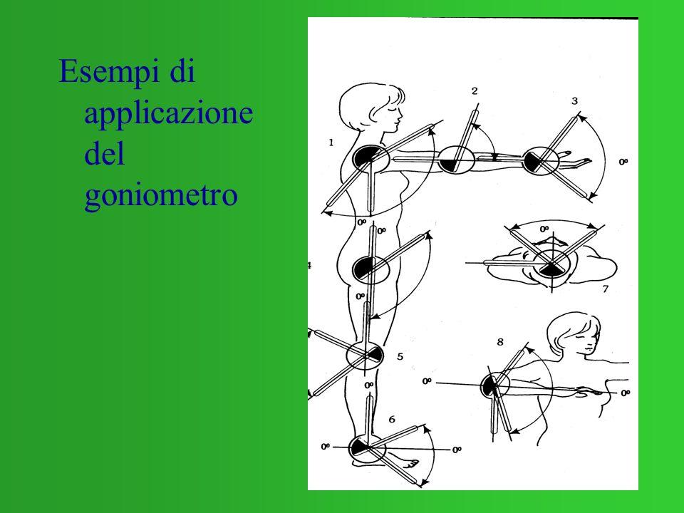 Esempi di applicazione del goniometro