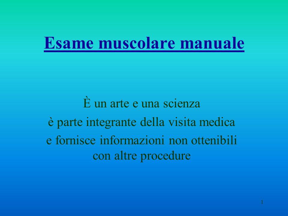 Esame muscolare manuale