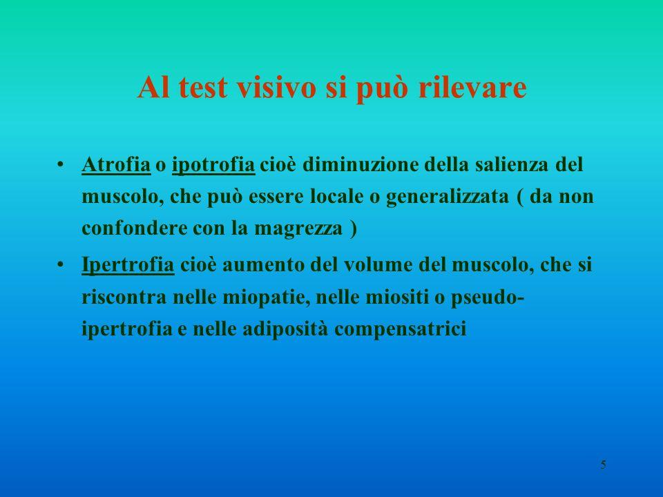 Al test visivo si può rilevare