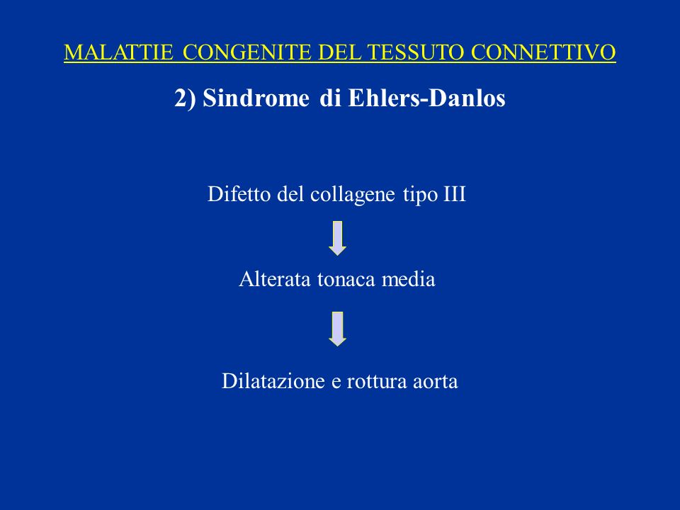 2) Sindrome di Ehlers-Danlos