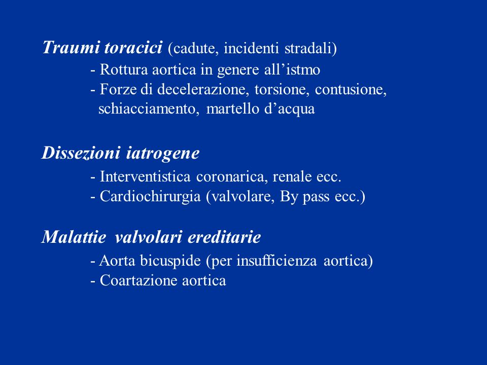 Traumi toracici (cadute, incidenti stradali)