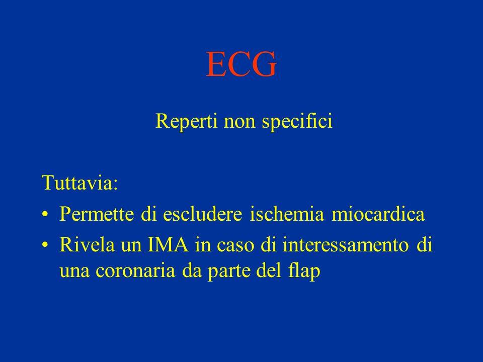 ECG Reperti non specifici Tuttavia: