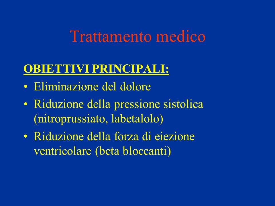 Trattamento medico OBIETTIVI PRINCIPALI: Eliminazione del dolore