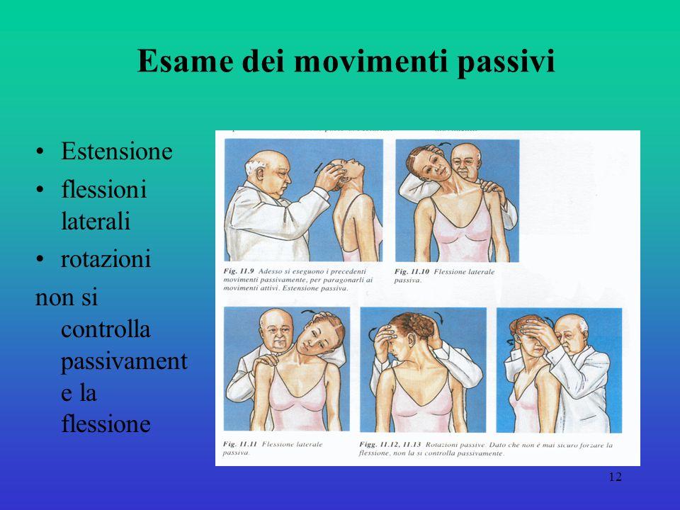 Esame dei movimenti passivi