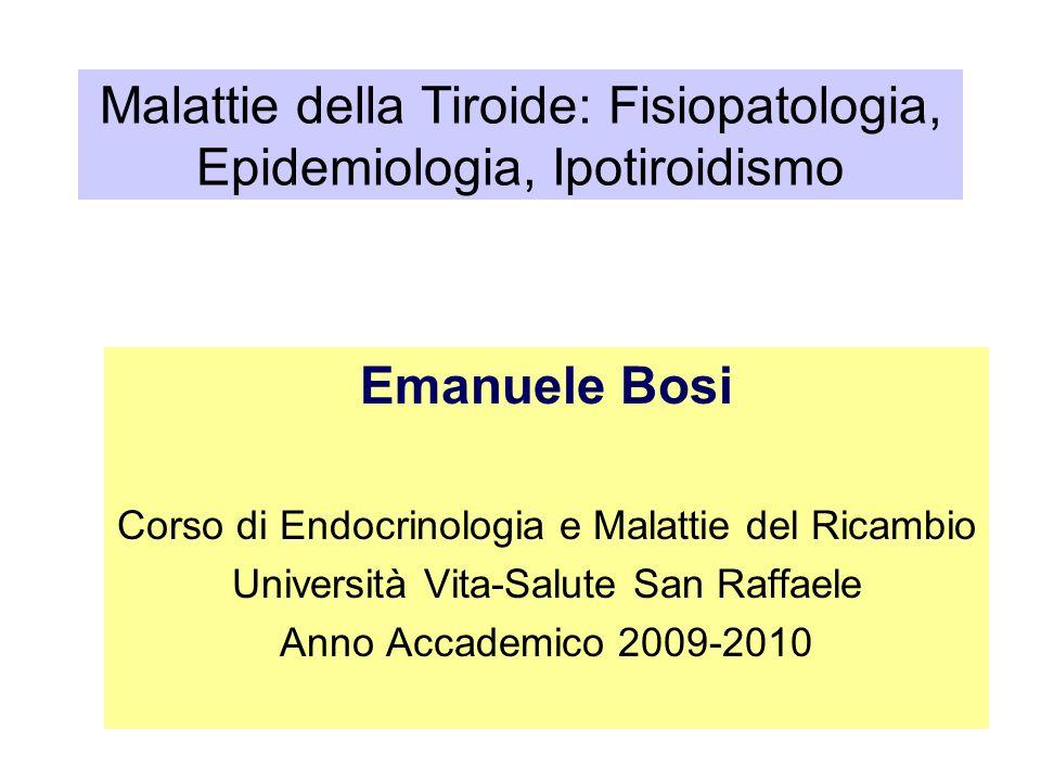Malattie della Tiroide: Fisiopatologia, Epidemiologia, Ipotiroidismo