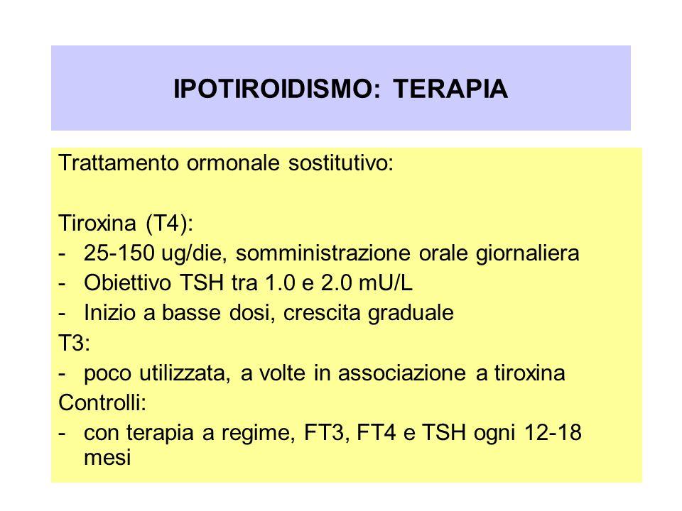 IPOTIROIDISMO: TERAPIA