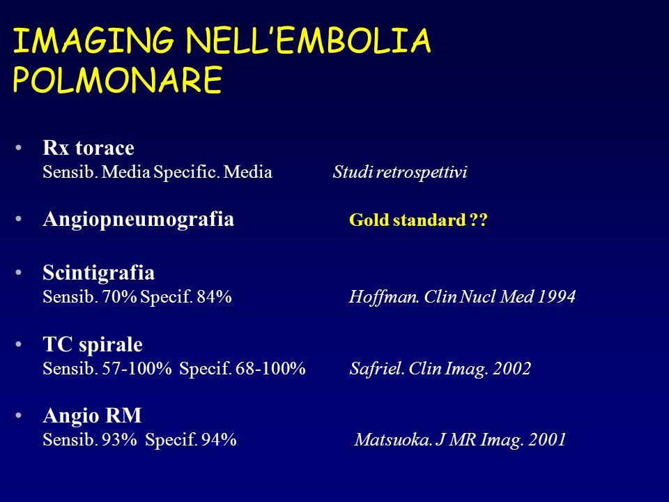 IMAGING NELL'EMBOLIA POLMONARE