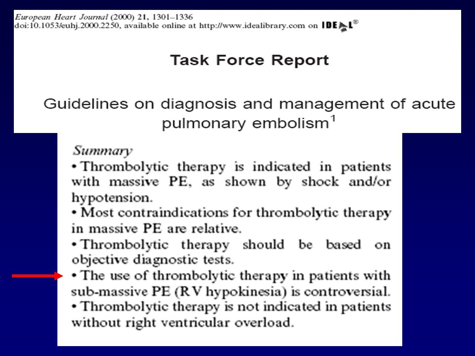 The role of thrombolytic therapy is much less well established for the treatment of venous thrombosis than for the treatment of pulmonary embolism. Thrombolytic therapy is more effective than heparin in achieving early lysis of venous thrombi15,16, but may not be more effective than anticoagulants in preventing the post-thrombotic syndrome.16 Furthermore, thrombolytic therapy is associated with a much higher risk of major bleeding than use of anticoagulants 15,16 and is more expensive.