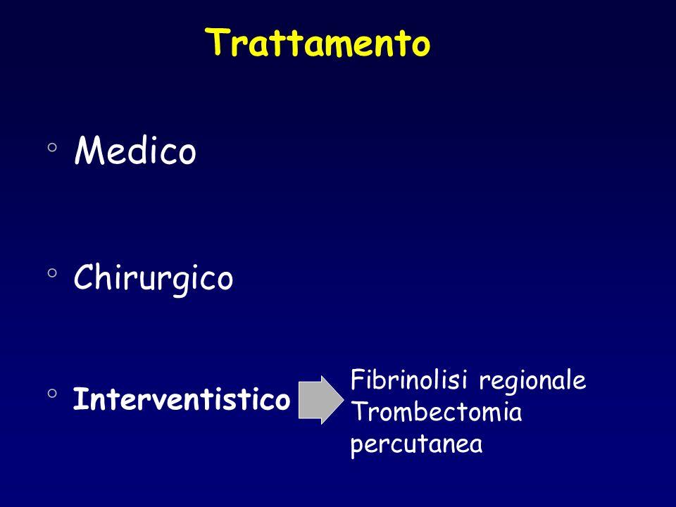 Trattamento Medico Chirurgico Interventistico Fibrinolisi regionale