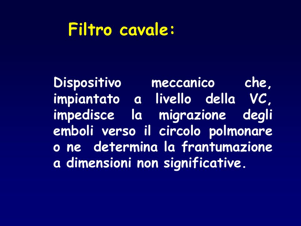 Filtro cavale: