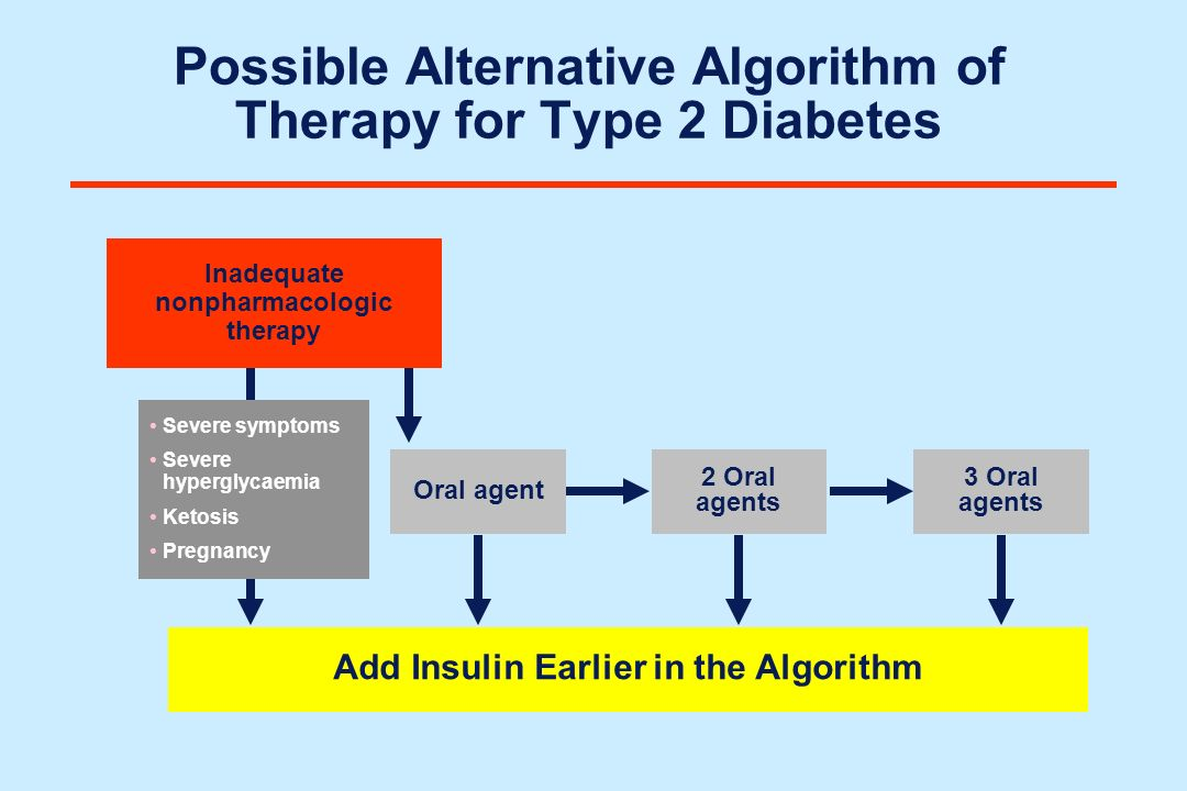 Possible Alternative Algorithm of Therapy for Type 2 Diabetes