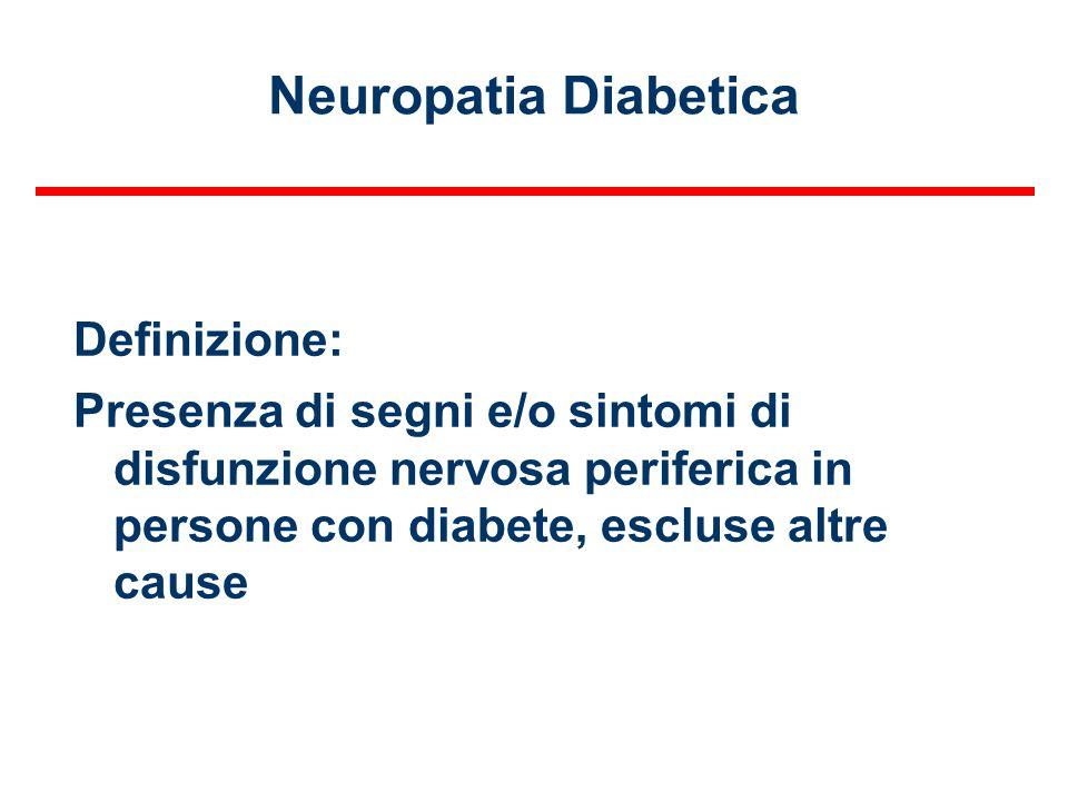 Neuropatia Diabetica Definizione:
