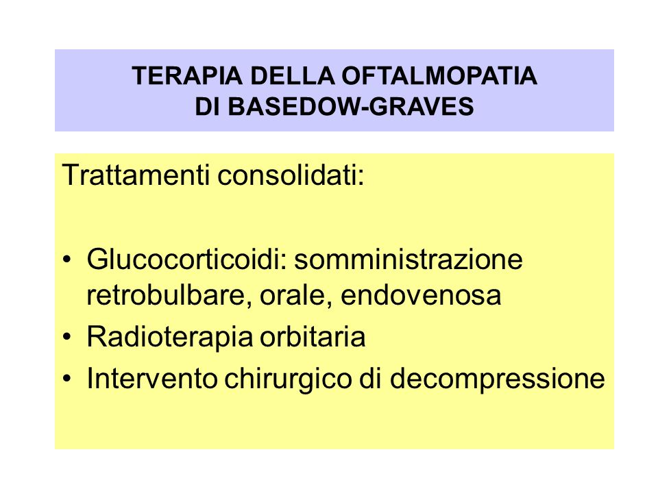 Oftalmopatia nel Morbo di Graves-Basedow