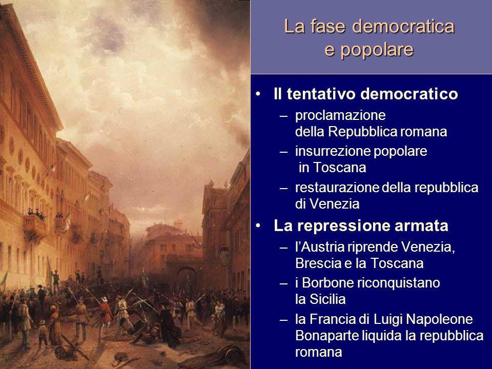 La fase democratica e popolare