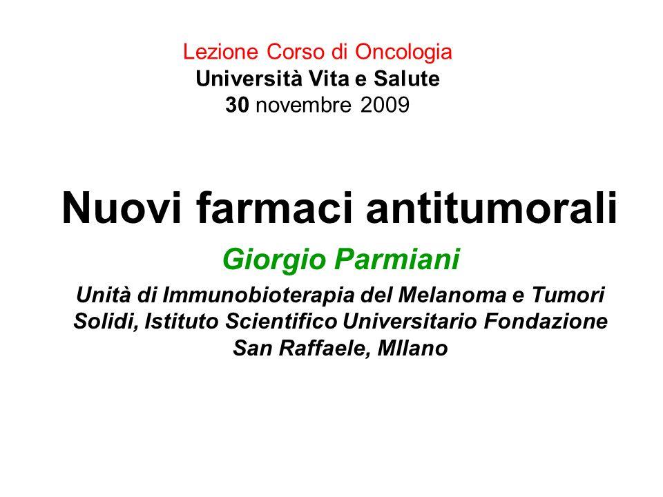 Lezione Corso di Oncologia Università Vita e Salute 30 novembre 2009