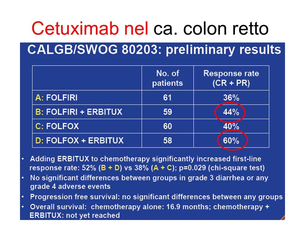 Cetuximab nel ca. colon retto