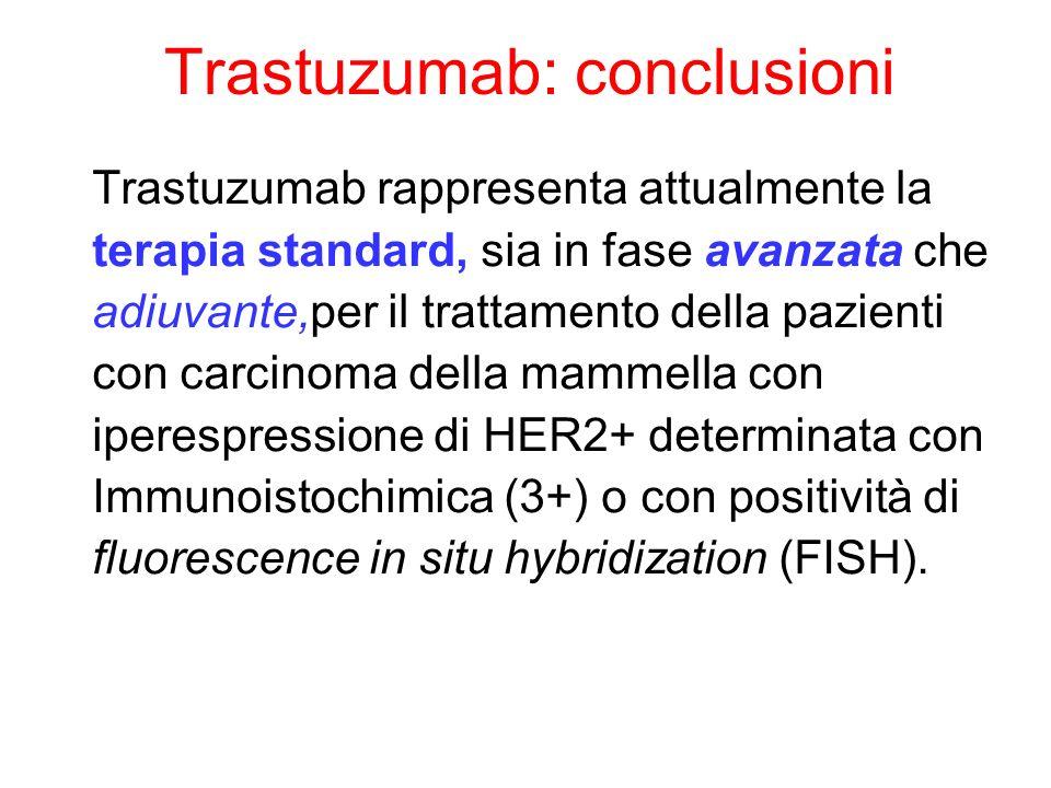 Trastuzumab: conclusioni