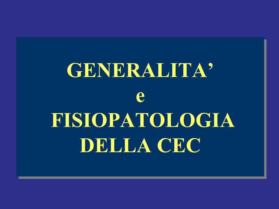 GENERALITA' e FISIOPATOLOGIA DELLA CEC