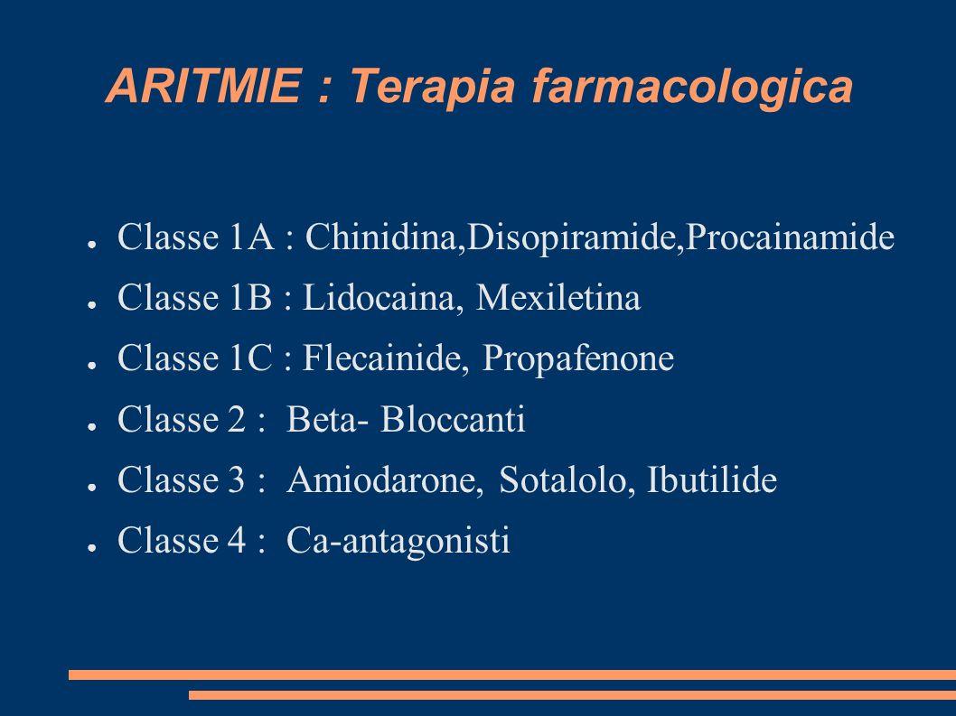 ARITMIE : Terapia farmacologica