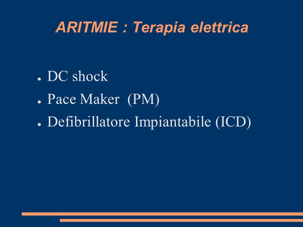 ARITMIE : Terapia elettrica