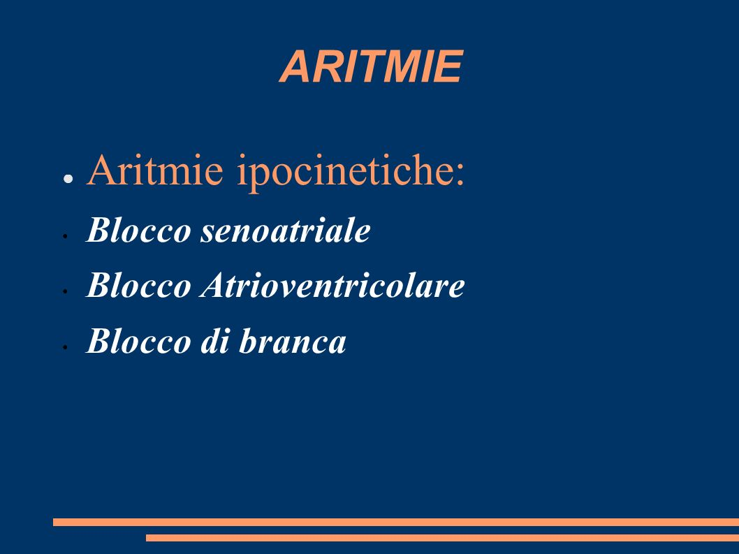 Aritmie ipocinetiche:
