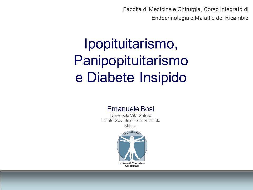 Panipopituitarismo e Diabete Insipido