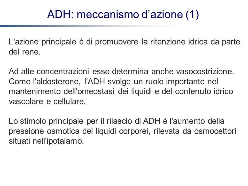 ADH: meccanismo d'azione (1)