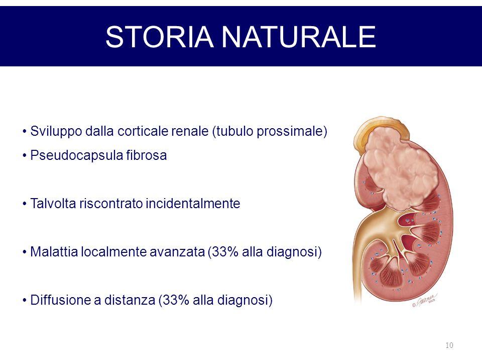 STORIA NATURALE Sviluppo dalla corticale renale (tubulo prossimale)