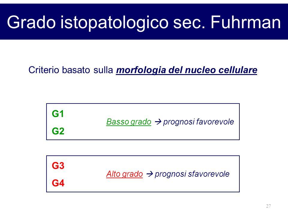Grado istopatologico sec. Fuhrman