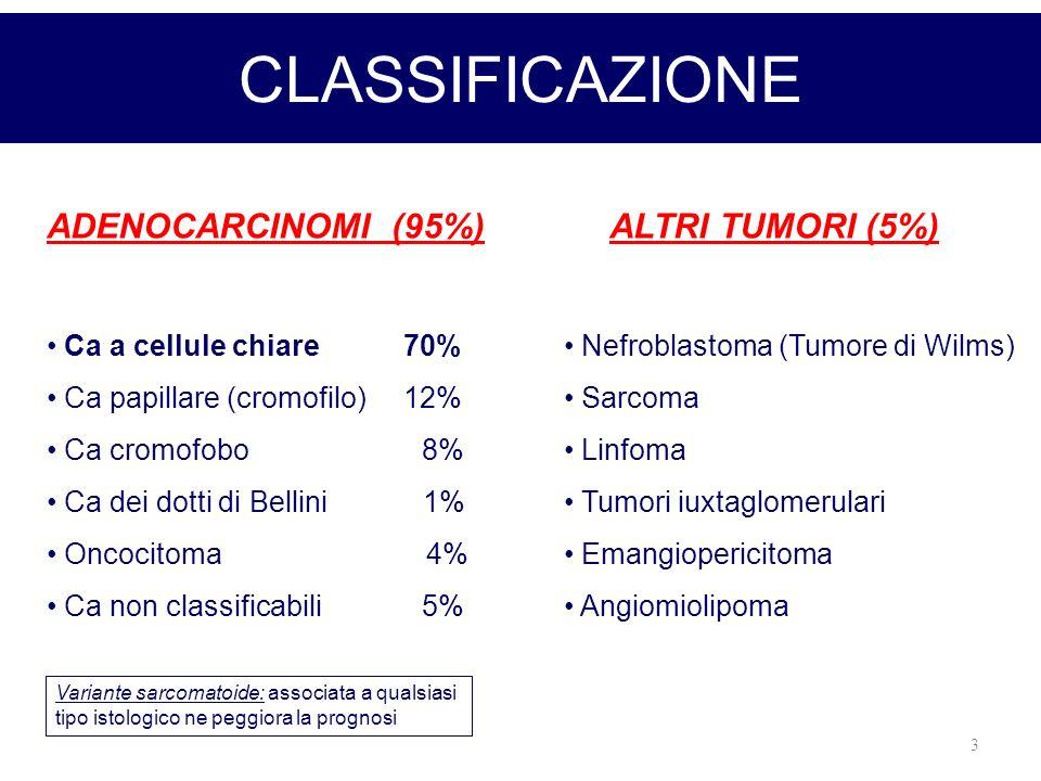 CLASSIFICAZIONE ADENOCARCINOMI (95%) ALTRI TUMORI (5%)