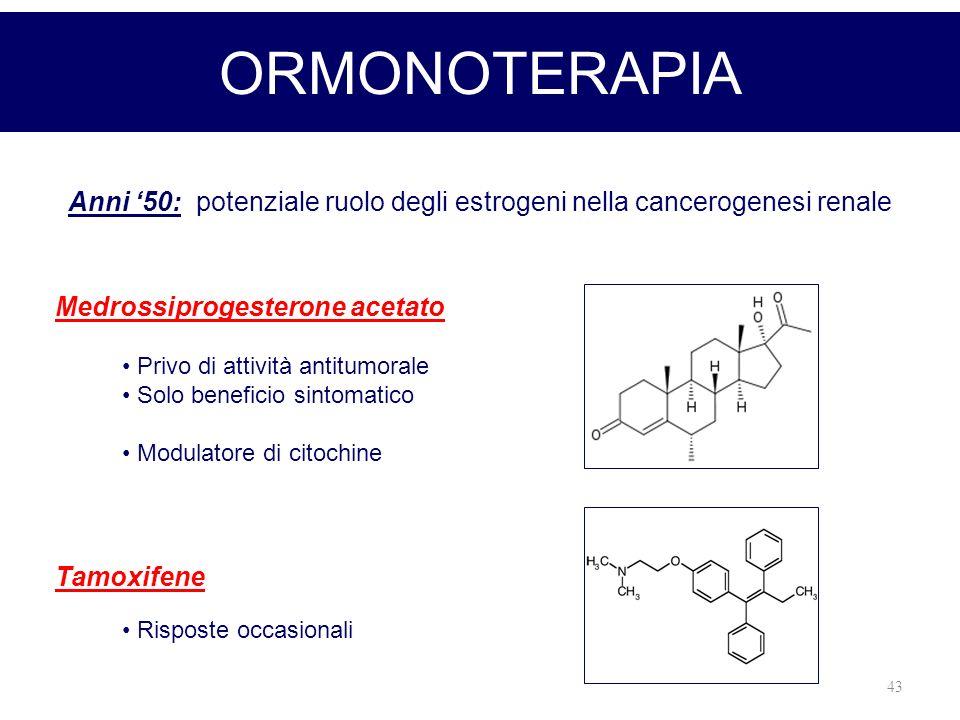 Anni '50: potenziale ruolo degli estrogeni nella cancerogenesi renale