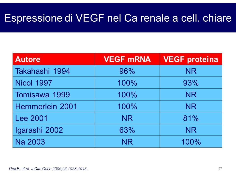 Espressione di VEGF nel Ca renale a cell. chiare