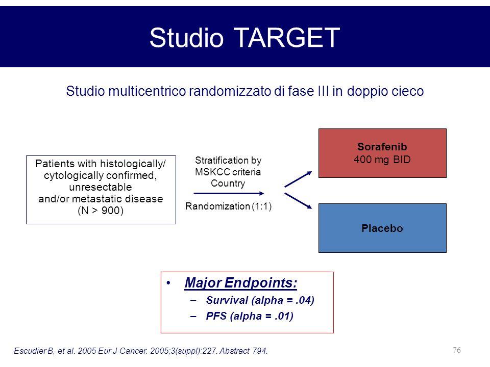 Studio multicentrico randomizzato di fase III in doppio cieco