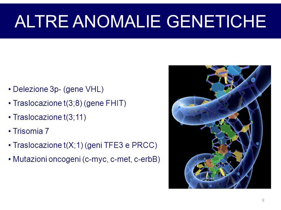 ALTRE ANOMALIE GENETICHE