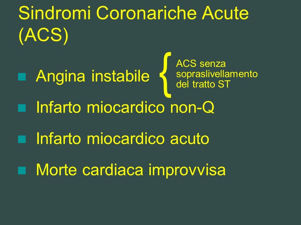 Sindromi Coronariche Acute (ACS)