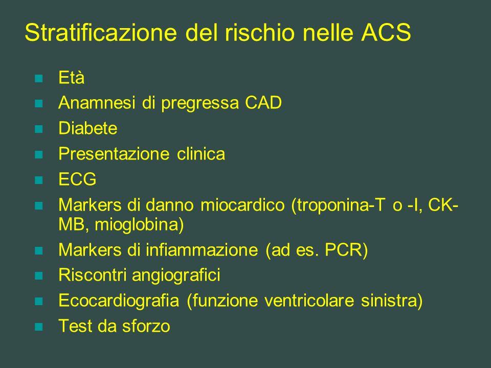 Stratificazione del rischio nelle ACS