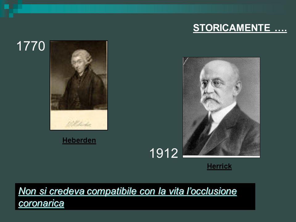 STORICAMENTE …. 1770. Heberden. 1912. Herrick.
