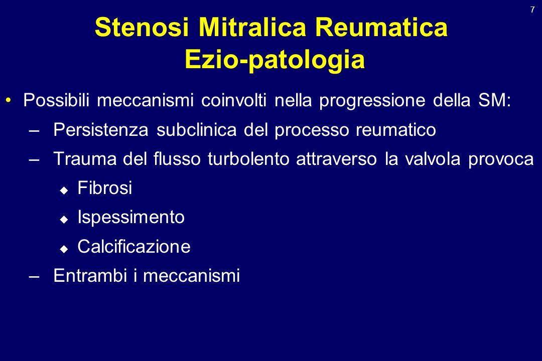 Stenosi Mitralica Reumatica Ezio-patologia