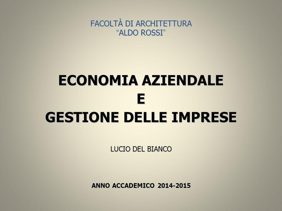 FACOLTÀ DI ARCHITETTURA ALDO ROSSI