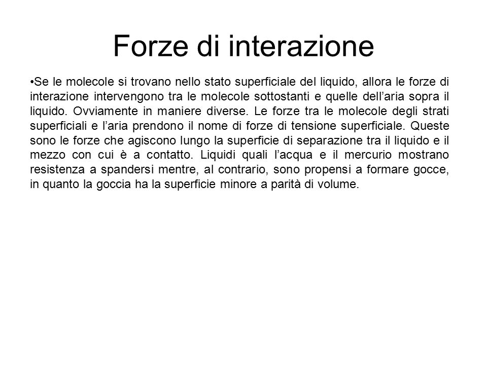 Forze di interazione