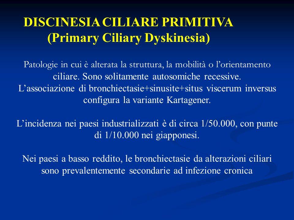 DISCINESIA CILIARE PRIMITIVA (Primary Ciliary Dyskinesia)