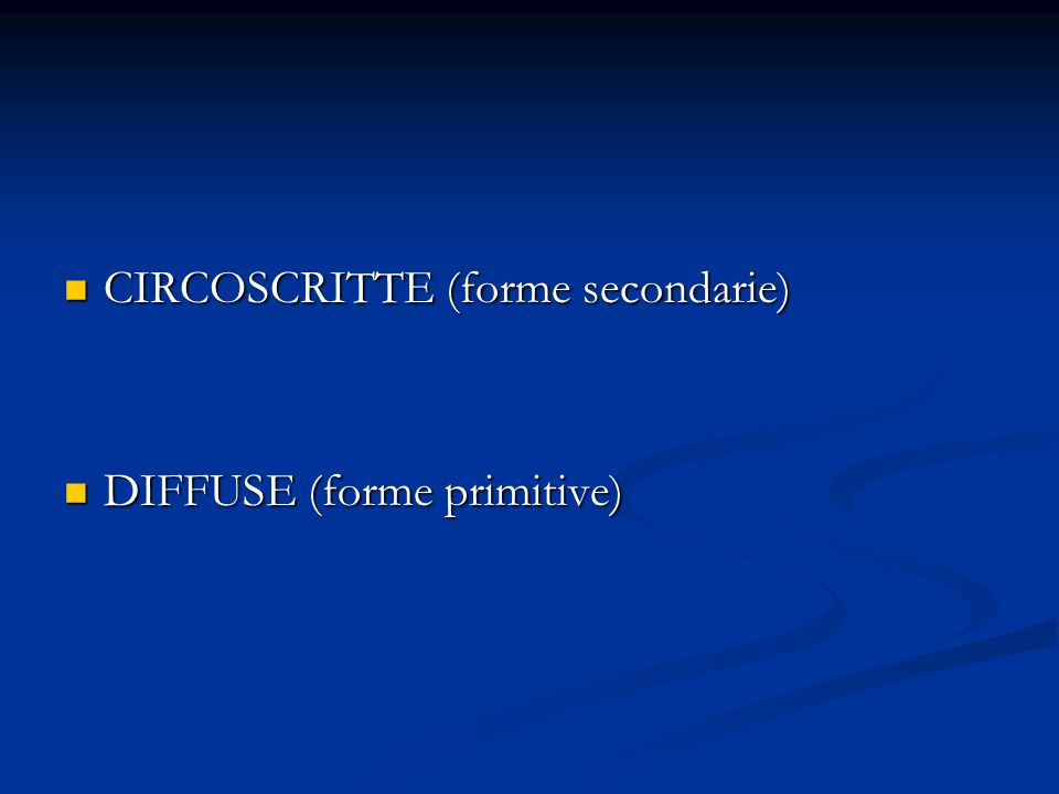 CIRCOSCRITTE (forme secondarie)