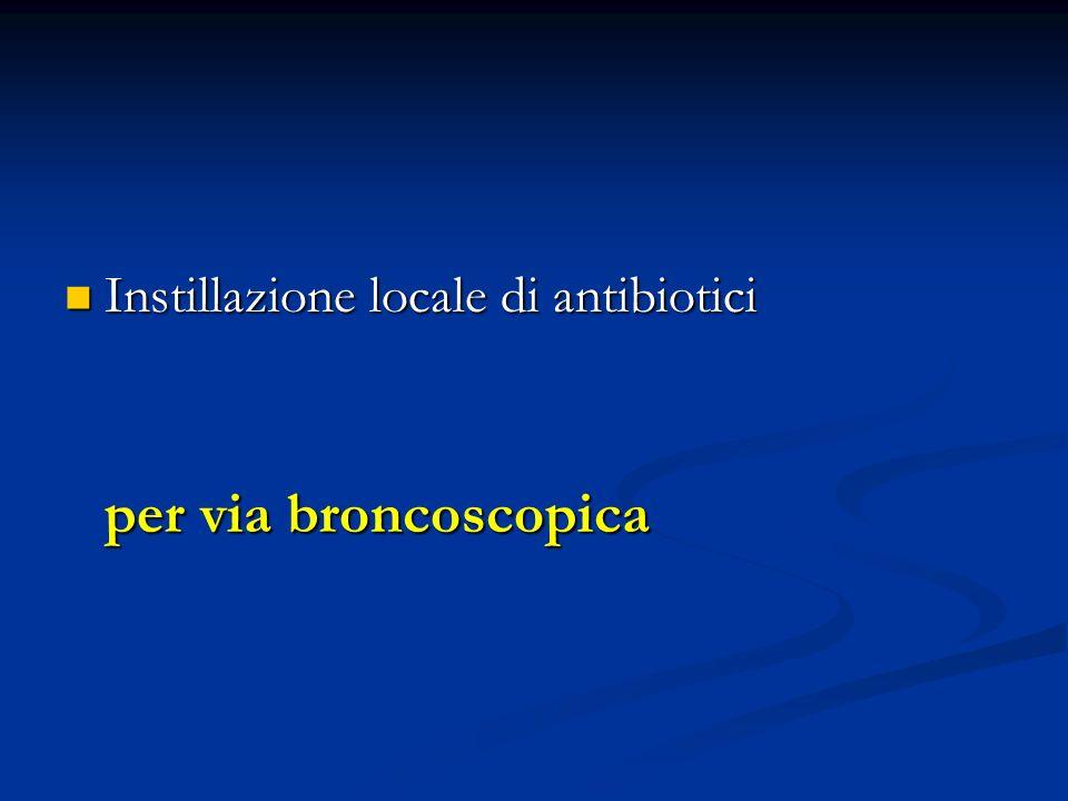 Instillazione locale di antibiotici