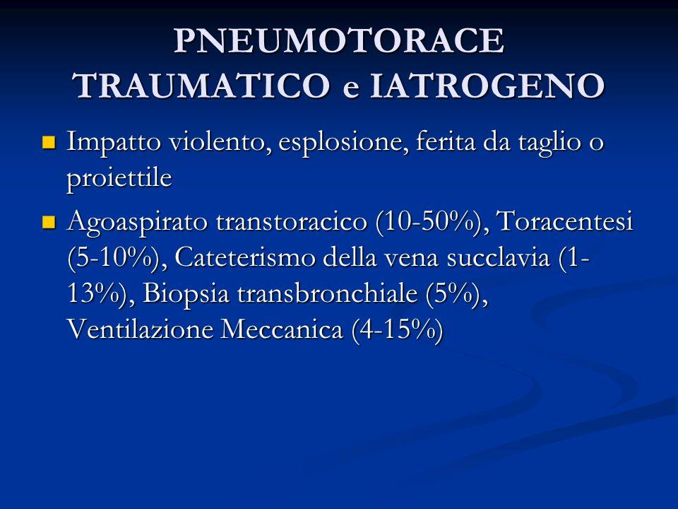 PNEUMOTORACE TRAUMATICO e IATROGENO